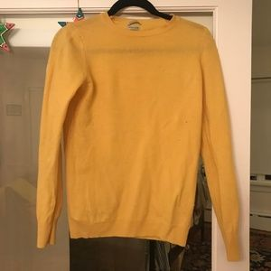 Benetton yellow sweater, merino wool